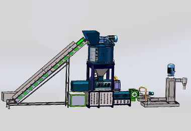 Recycling and Pelletizing Machine