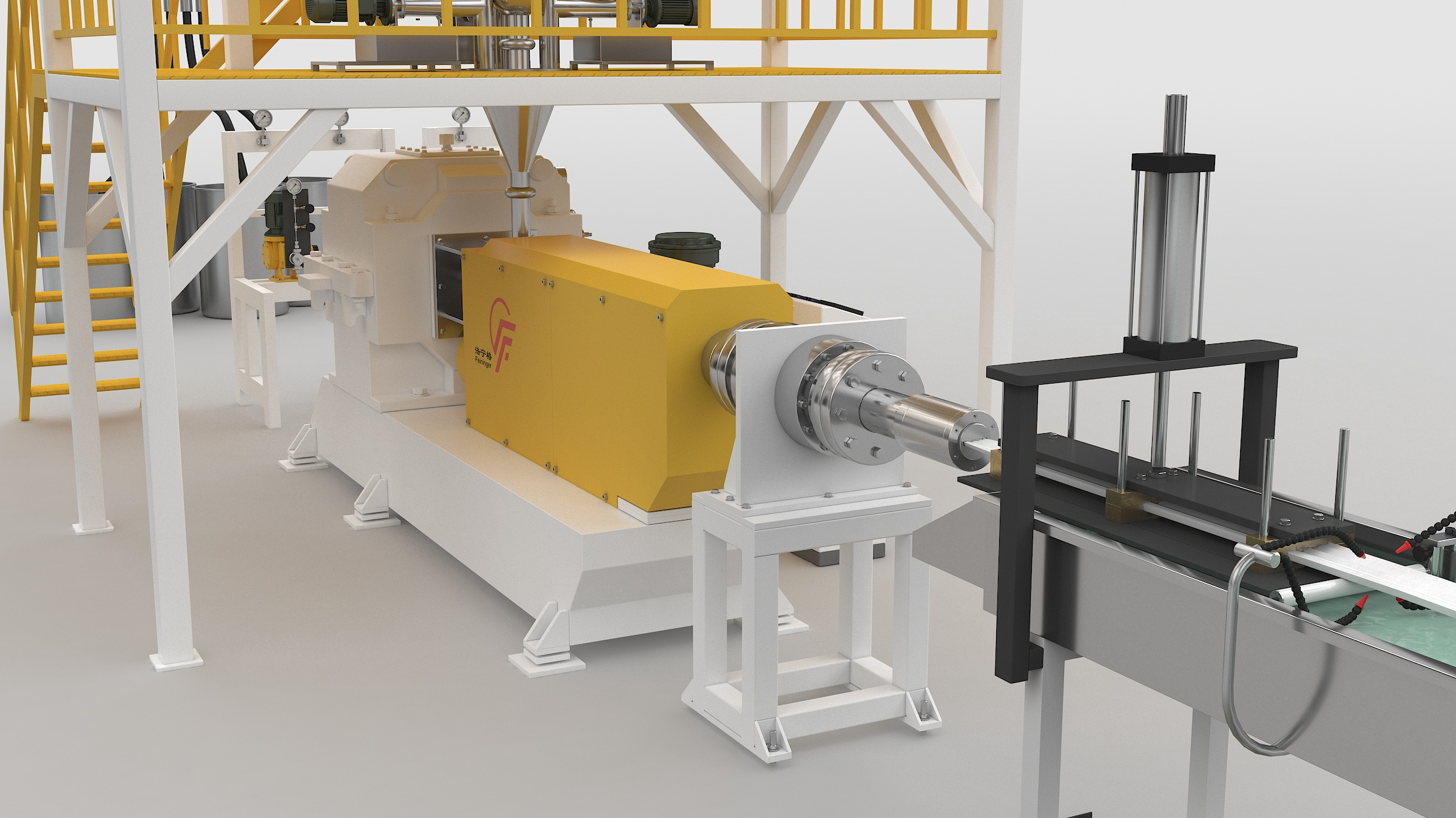 main extruder of profile production line